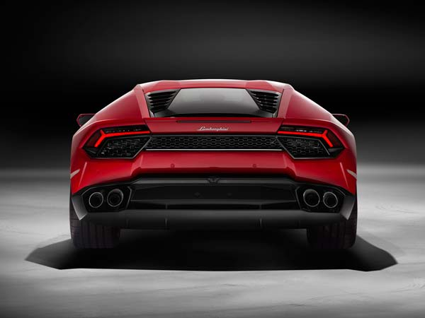la motor show lamborghini huracan lp580-2 2016 model rear profile