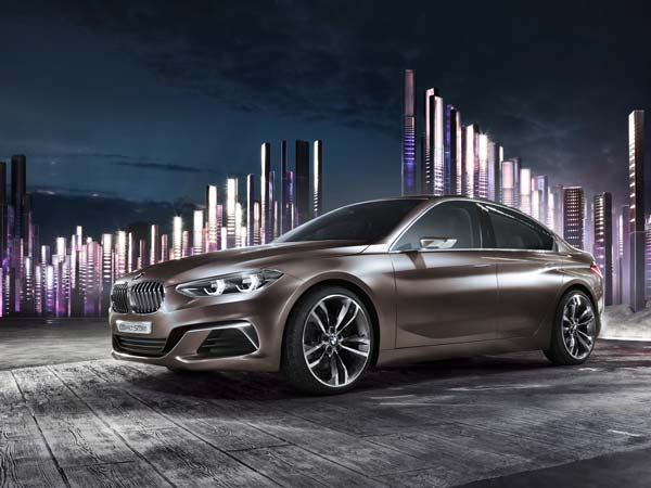 bmw concept compact sedan front design wallpaper