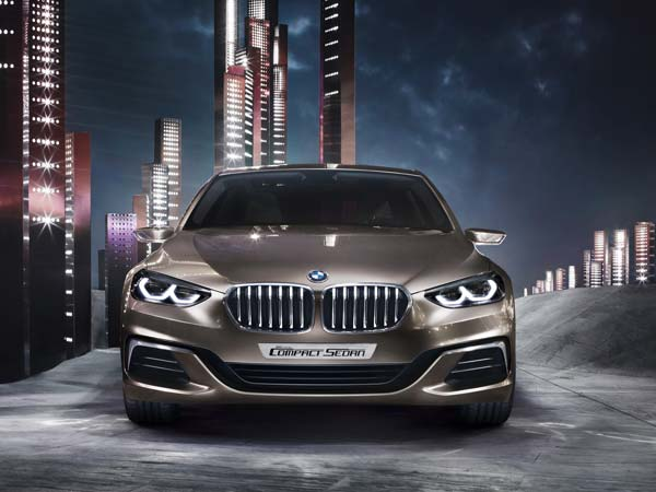 bmw concept compact sedan front profile