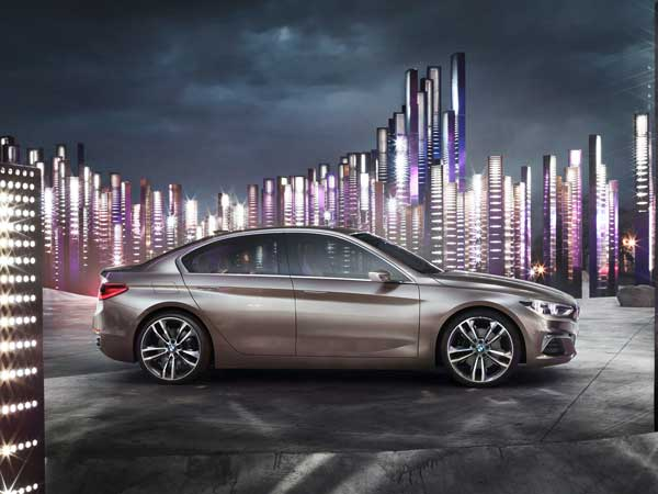 bmw concept compact sedan side design
