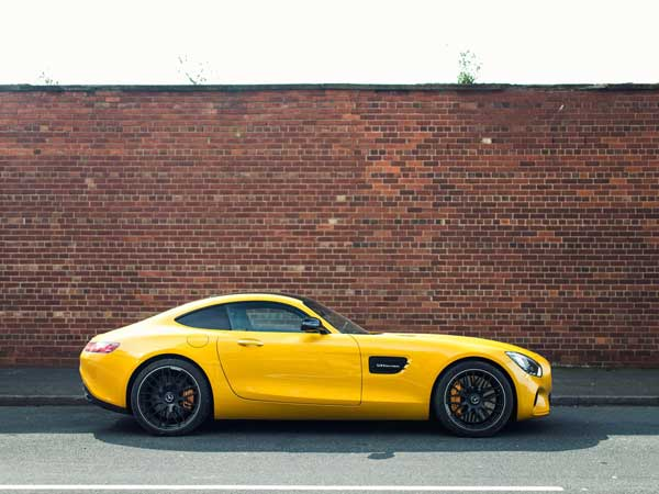 mercedes amg gts side profile