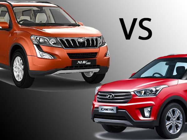 mahindra xuv500 vs hyundai creta automatic comparison drivespark. Black Bedroom Furniture Sets. Home Design Ideas