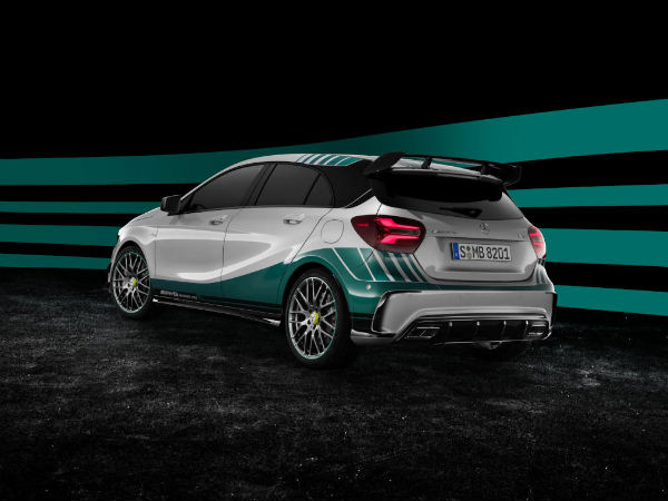 mercedes a45 amg f1 special edition rear profile