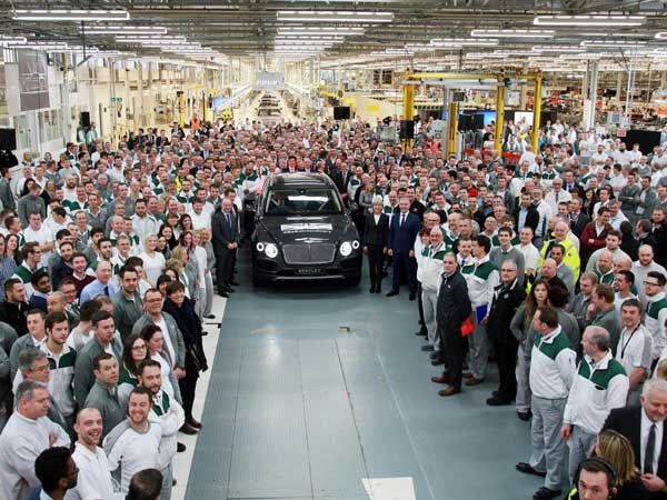 bentley bentayga production
