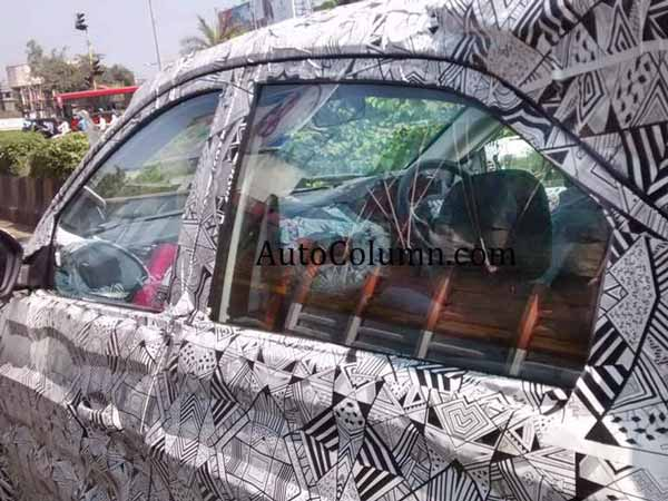 tata nexon spy shot side view