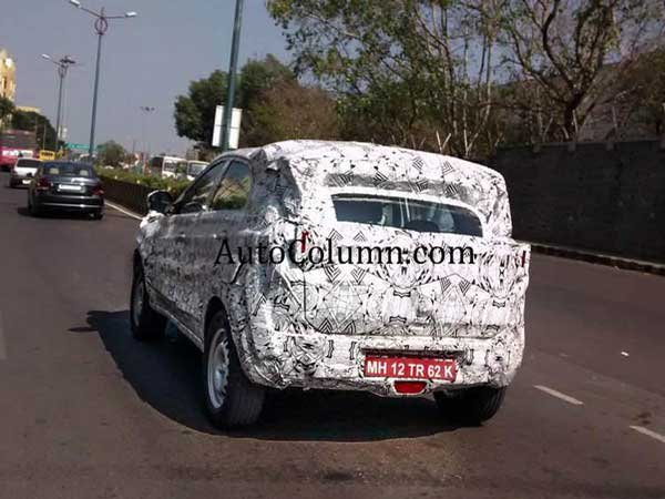 tata nexon spy shot rear view