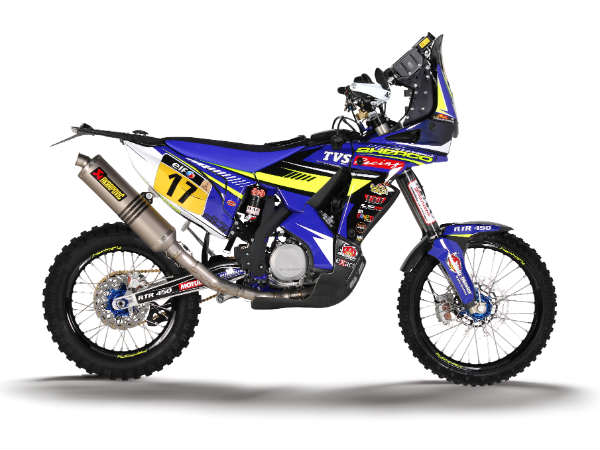team sherco tvs rtr 450 motorcycle