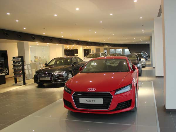 audi cars in rajkot showroom