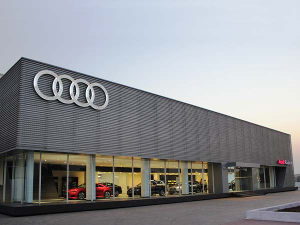 audi opens showroom in rajko front