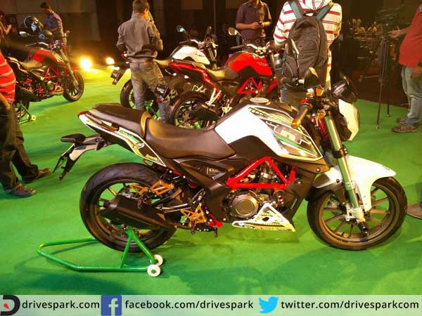 benelli tnt25 launched in india side design