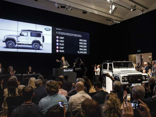 defender 2,000,000 charity auction final bid