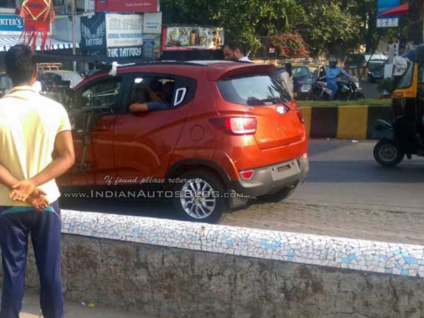 mahindra s101 spy pictures rear design