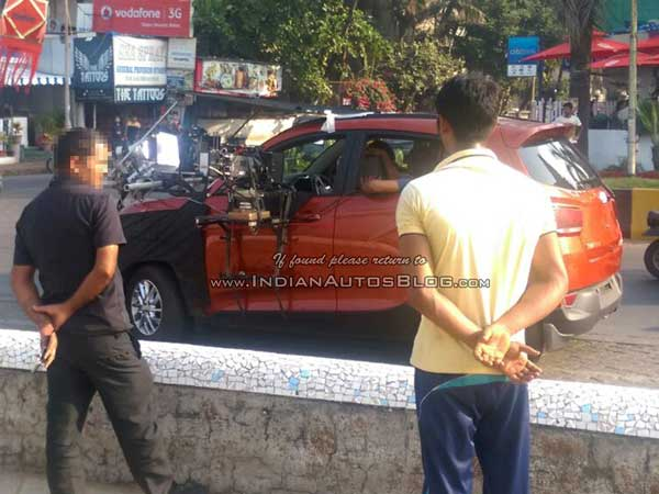 mahindra s101 spy pictures ad shoot in mumbai