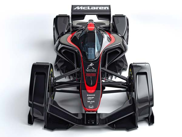 mclaren mp4-x formula one front design