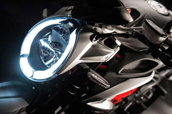 mv agusta brutale 800 india head lamp