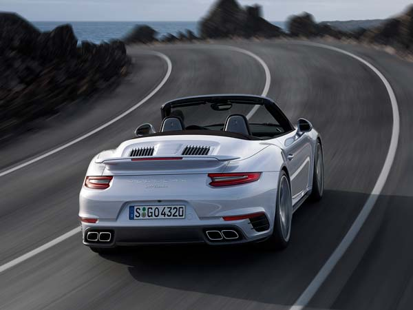 porsche 911 turbo new engine grille and exhausts