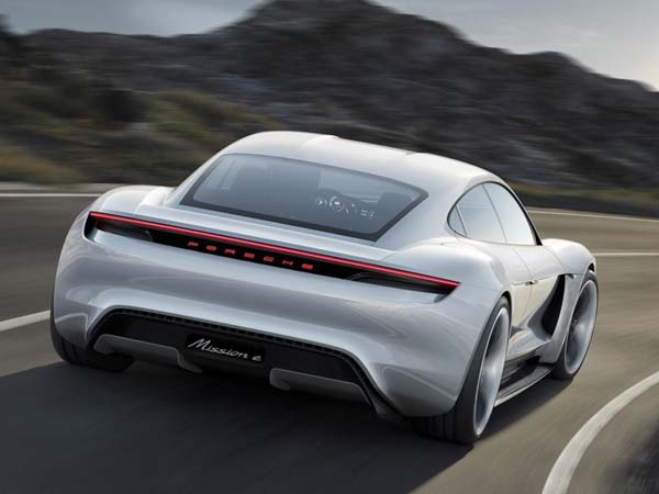 porsche mission e 2020 launch rear profile