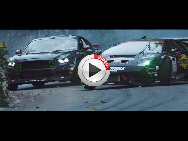 Rwd Lamborghini Murcielago Takes On Ford Mustang Rtr In A Drift