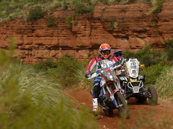 dakar rally 2016 stage 2 update bike and quad