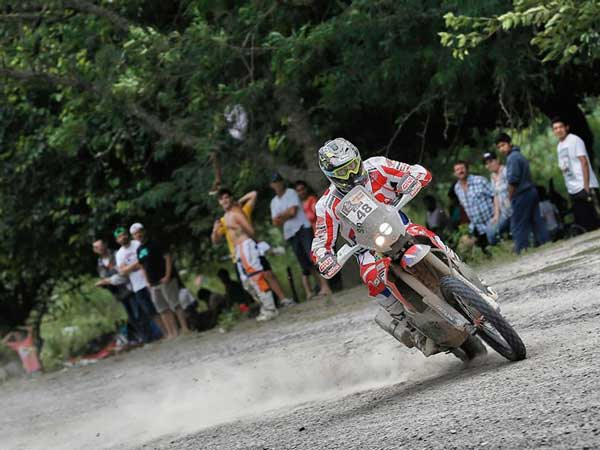 honda hrc rider during stage 3