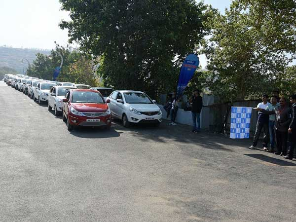 tata zest largest convoy record