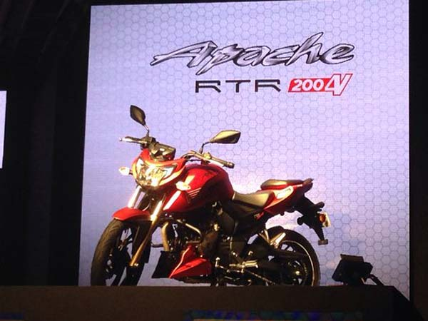 tvs apache rtr 200 4v launched in india