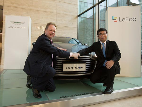 aston martin inks deal with leeco to produce its first electric car