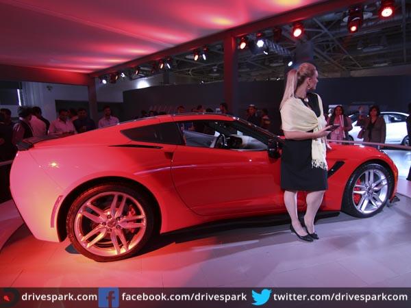 Original Auto Expo 2016 Chevrolet Corvette StingRay Makes India Debut