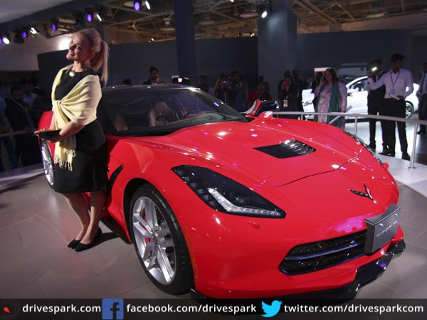 Model Auto Expo 2016 Chevrolet Corvette StingRay Makes India Debut