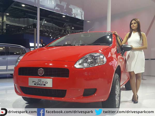 fiat punto pure auto expo launch