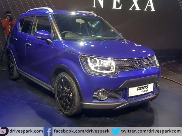 2016 Delhi Auto Expo Top 10 Concept Cars: Auto Expo 2016 : Maruti Suzuki Ignis Compact Crossover
