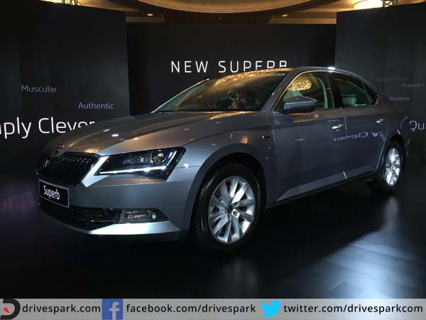 skoda superb front three quarter profile india launch