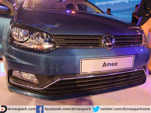 volkswagen ameo new front end