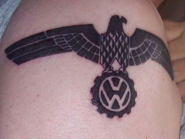 10. Volkswagen Logo With Eagle