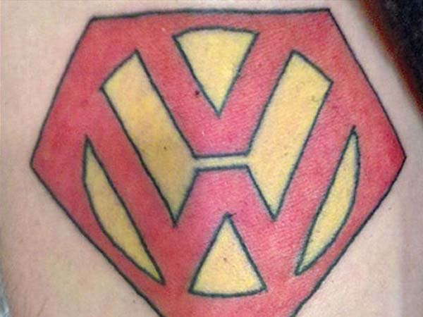 9. Volkswagen Logo With Superman Theme?