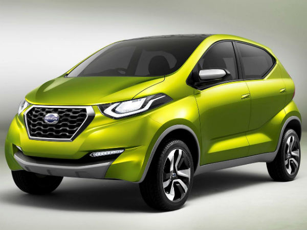 datsun redi go front three quarter