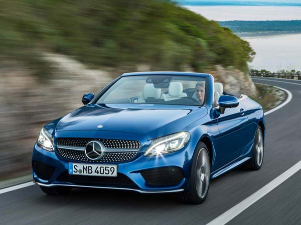 mercedes c class cabriolet front three quarter profile