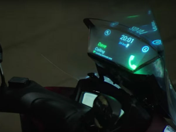 yamaha samsung smart windshield concept