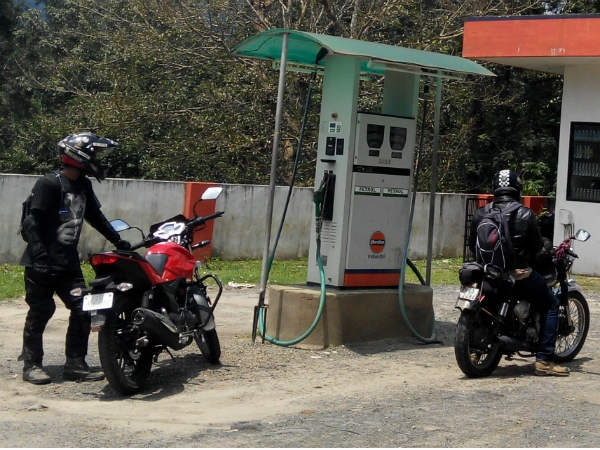 fuel consumption at petrol station