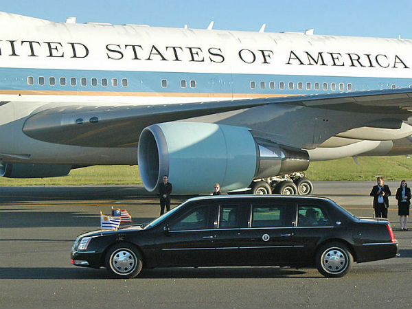 US Presidents Car 'The Beast' Does A 3-point turn
