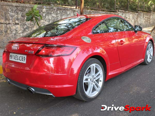 audi tt coupe rear three quarter