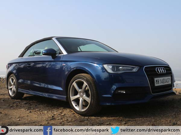 audi a3 cabriolet review front three quarter with roof