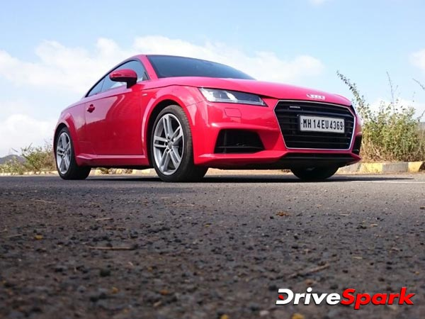audi tt coupe front three quarter