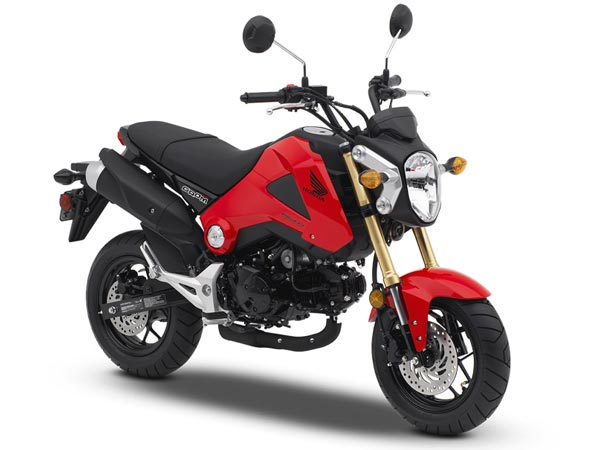 honda grom front profile