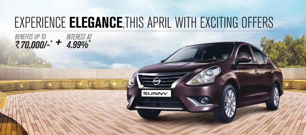 nissan sunny offer