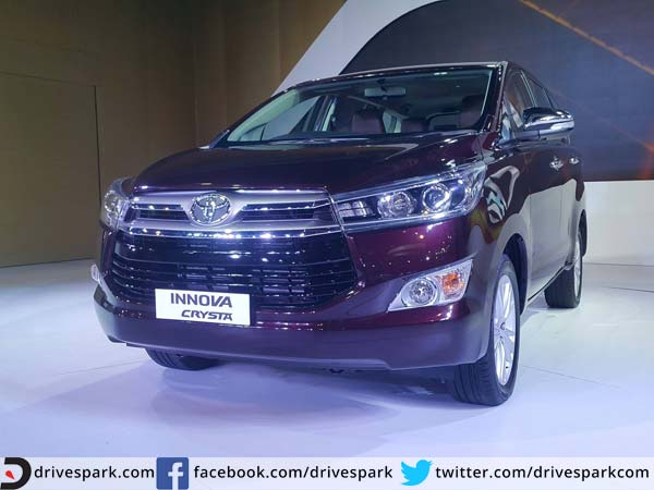 upcoming cars in India - Toyota Innova Crysta