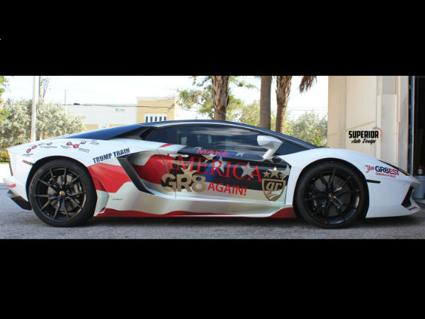 Lamborghini Aventador Donald Trump