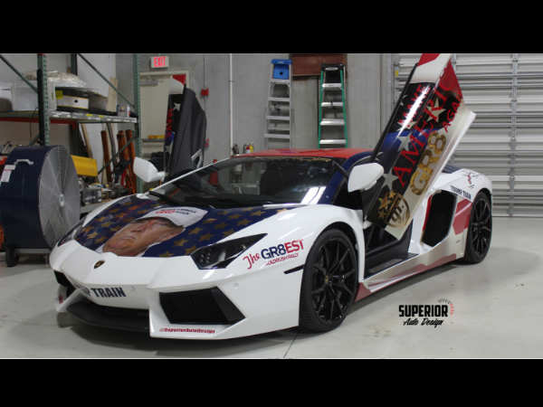 The Lamborghini Aventador is a 691bhp fire spitting monster that can scare anyone inside or in its p
