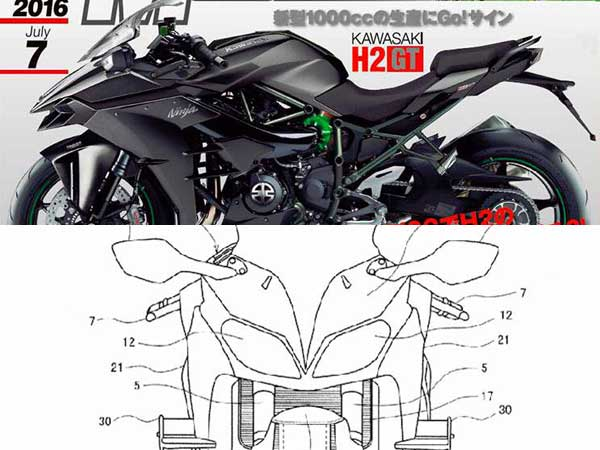 2017 Kawasaki H2 Gt Images Surface Prior To Official Reveal