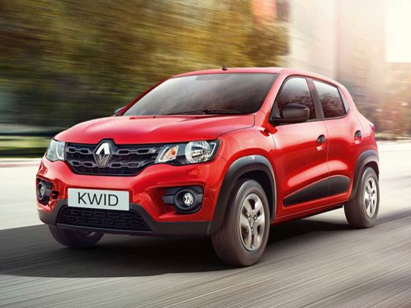 renault kwid front three quarter